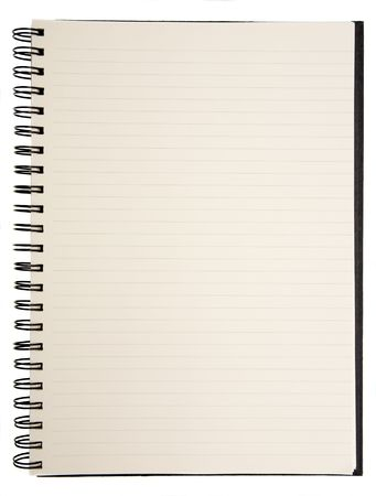 Open blank notebook on a white background Stock Photo - 643659