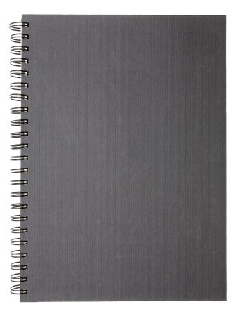 Blank notebook on a white background Stock Photo