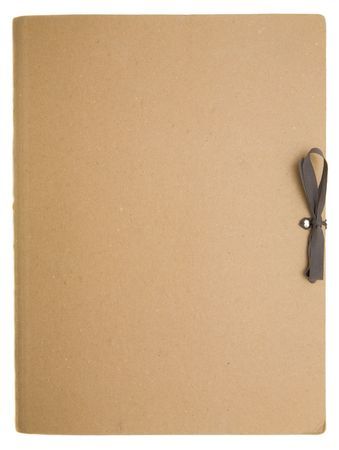 document management: Blank folder on a white background Stock Photo
