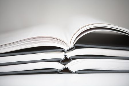 Books piled in abstract environment Stock Photo - 643574