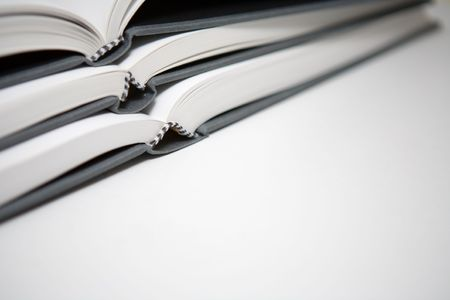Books piled in abstract environment Stock Photo - 643575