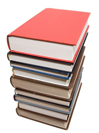 Used books on a white background Stock Photo - 643401
