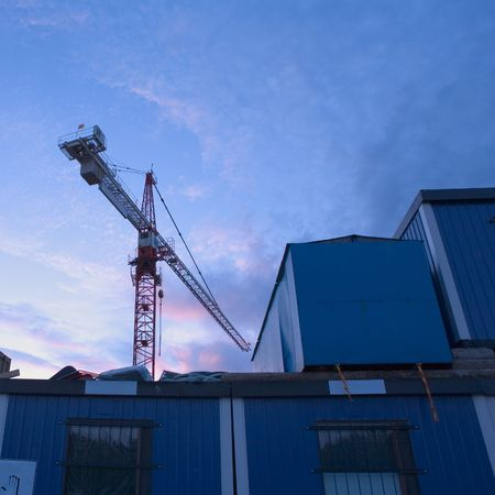 Crane at a construction site photo