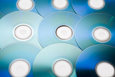 writable: Recordable compact discs in an array
