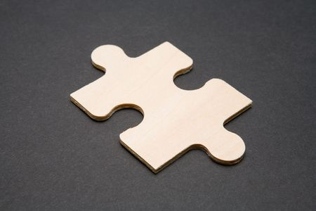 Single puzzle piece Stock Photo