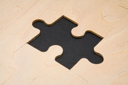 Missing puzzle piece Stock Photo - 1051040