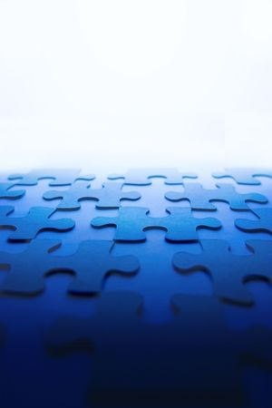 Abstract puzzle background Stock Photo