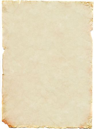 torned: Old and worn sheet of paper Stock Photo