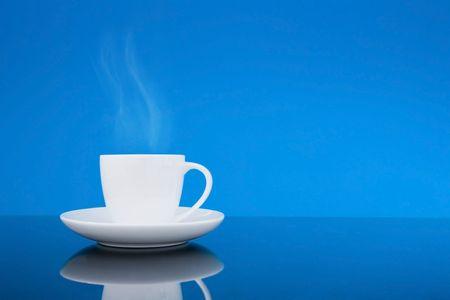 White coffee cup. China crockery.