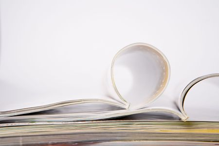 periodical: Stack of glossy periodical magazines Stock Photo