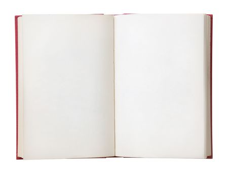 new books: Open book with blank pages. Isolated on a white background.