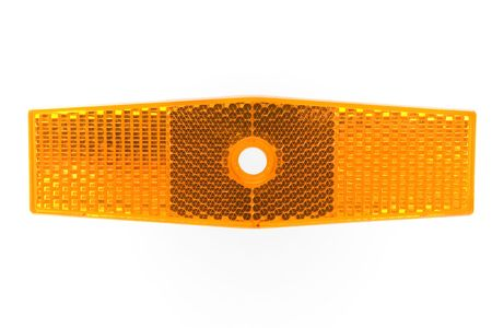 Bicycle reflector on a white background photo
