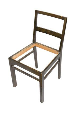 muebles antiguos: Antiguo presidente del Comit� en necesidad de restauraci�n aisladas sobre un fondo blanco  Foto de archivo