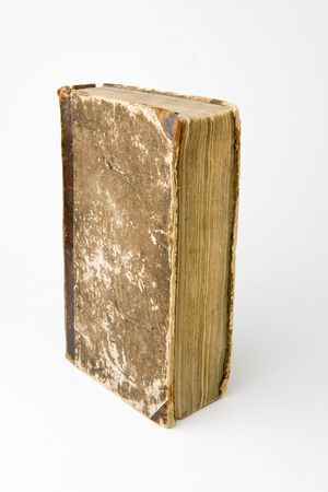yellowish: Antique book on a white background Stock Photo