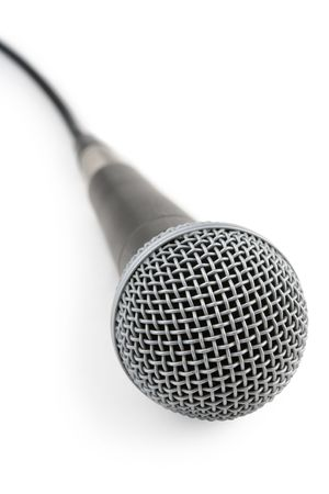narrate: Microphone on a white background