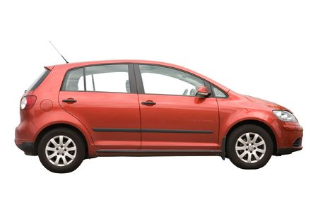 compact: Hatchback car isolated on a white background