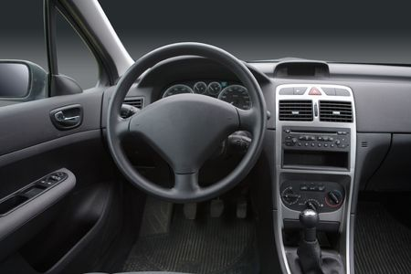 Interior view of a car Stock Photo