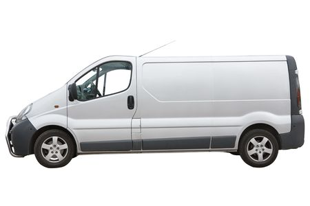 Van isolated on a white background photo