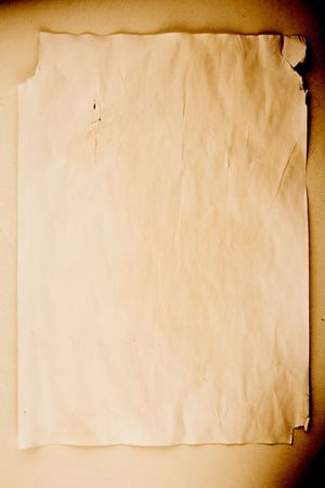 Old and worn sheet of paper Stock Photo - 2517618