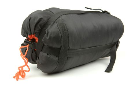 Sleeping bag isolated on a white backgroun