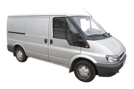 Van isolated on a white background