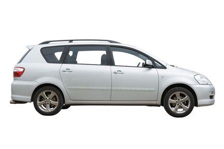 parked: Auto geïsoleerd op een witte achtergrond
