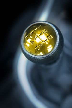 gearstick: Golden gearstick with speed numbers