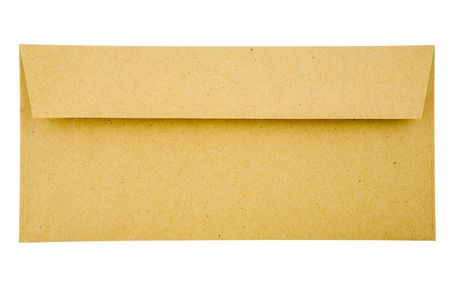 Envelope isolated over white background Stock Photo