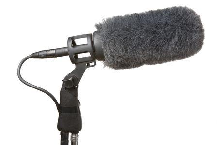 부드러운 털의: Microphone used in TV and film production