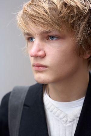 Exter portrait of seus teenage boy, close-up Stock Photo - 3465950