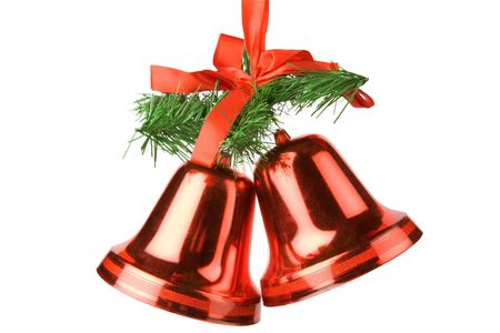 Christmas bells decoration isolated on white background