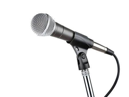 mics: Micr�fono aislado sobre fondo blanco