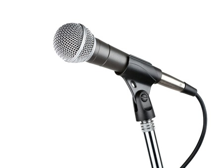 mic: Microphone isolated on white background
