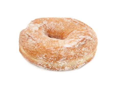 Sugar donut isolated on white background photo