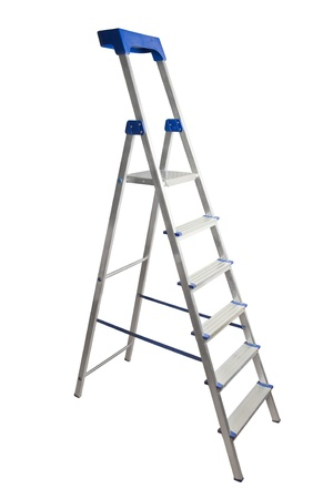 step ladder: Step ladder isolated on white background