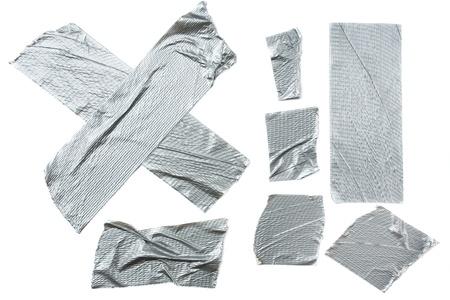 duct: Tiras de cinta adhesiva aislados en fondo blanco