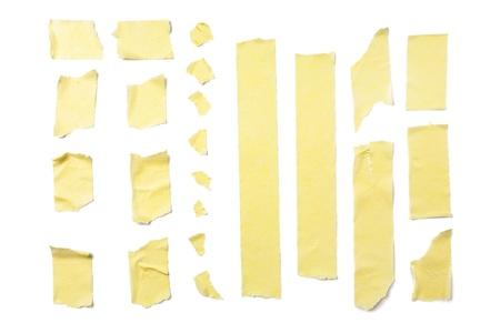 Streifen von Masking Tape isolated on white background