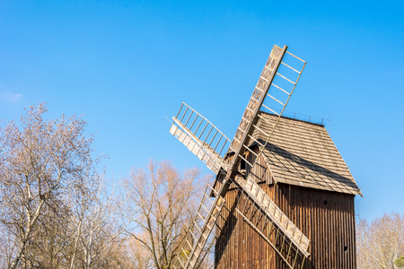 Old windmill, open-air museum in Poland Opole