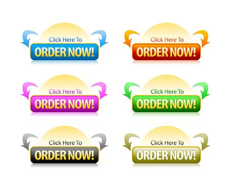 Order Button to purchase items from the website Stock Photo - 5490199