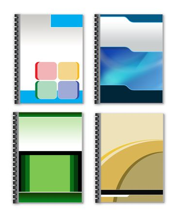 3d style ring binder to use for minisite graphics. Stock Photo
