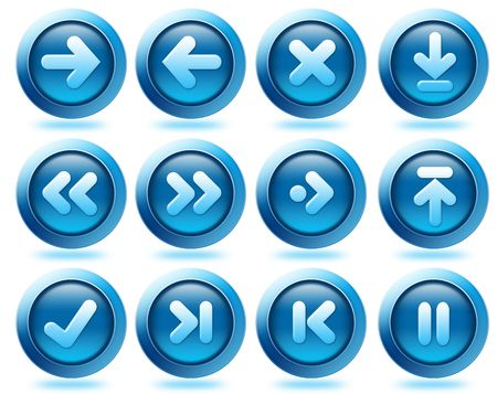 Diffirent kind of arrow icons to use for website and interface Stock Photo - 5550548