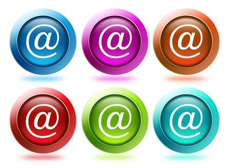 different color of email icons for website