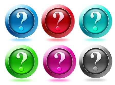 Question mark or help icon in different colors