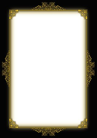 fancy border: beautiful page design to use for certificate, diploma or page art.