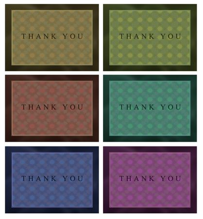 Collection of modern thank you cards  Stock Photo