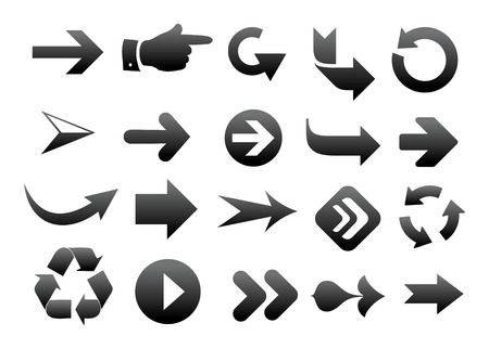 collection of vector arrow on white background