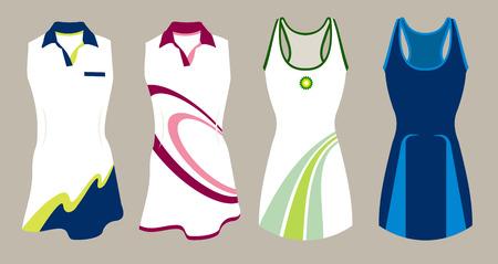 beautidul tennis shirt in vector format