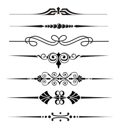 Divisor Vecter adornos y elementos gráficos Ilustración de vector
