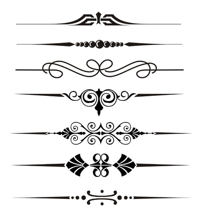 Vecter divider ornaments and graphical elements