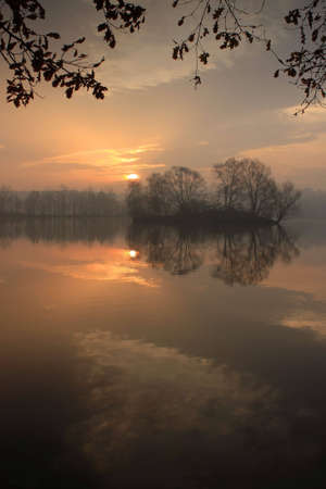 fish pond Kotvice  Stock Photo